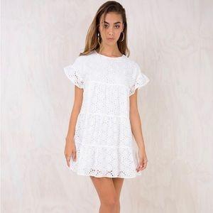 ✭ White Lace Babydoll Dress